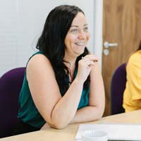 Female colleague in a meeting